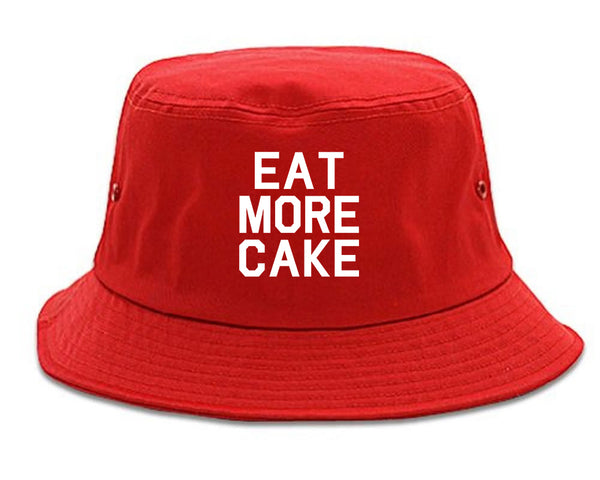 Eat More Cake Birthday Red Bucket Hat