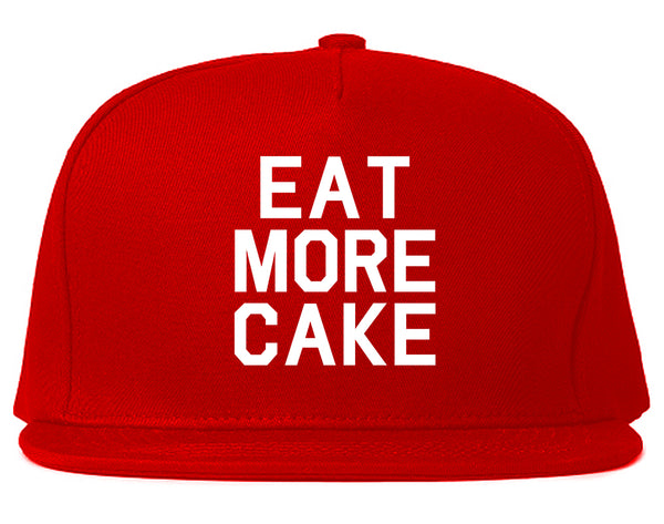 Eat More Cake Birthday Red Snapback Hat