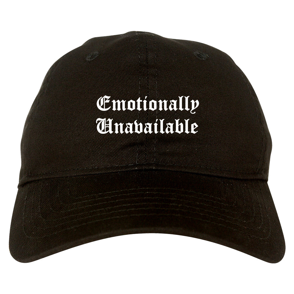 Emotionally Unavailable Roses black dad hat