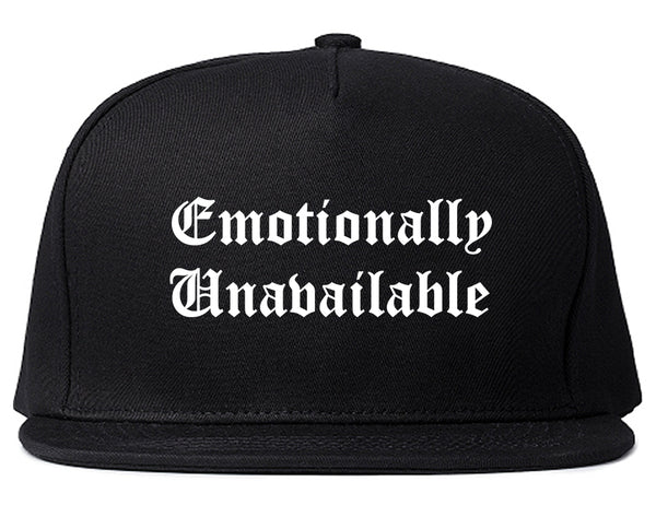Emotionally Unavailable Roses Black Snapback Hat