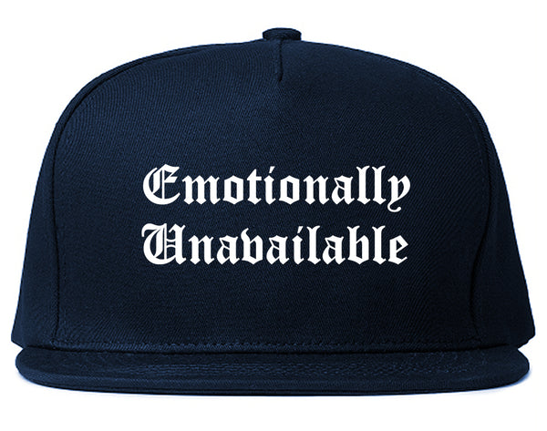 Emotionally Unavailable Roses Blue Snapback Hat