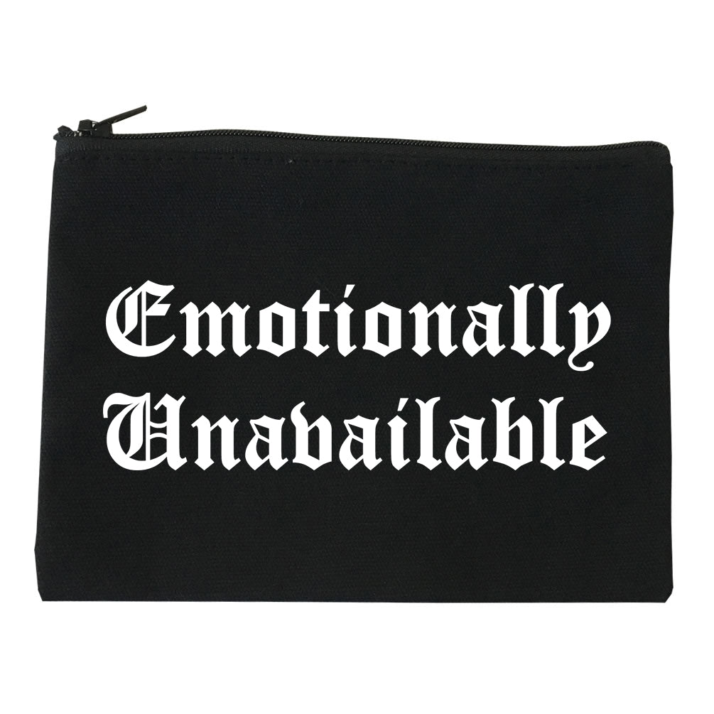 Emotionally Unavailable Roses black Makeup Bag