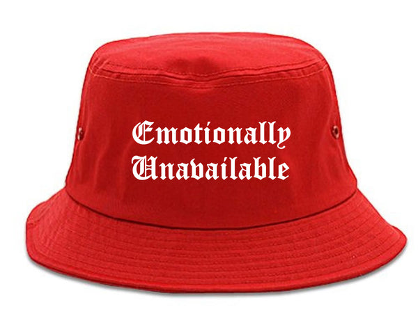 Emotionally Unavailable Roses red Bucket Hat