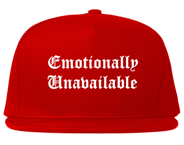 Emotionally Unavailable Roses Red Snapback Hat
