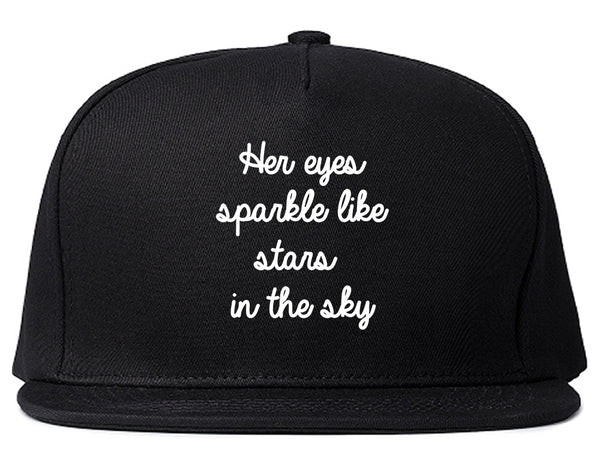 Eyes Sparkle Star Free Spirit Chest Black Snapback Hat