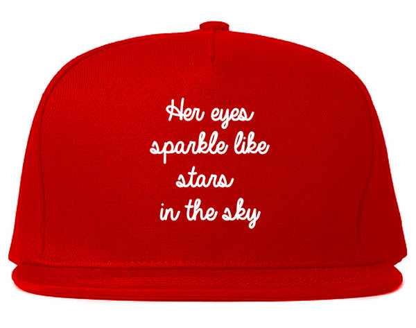 Eyes Sparkle Star Free Spirit Chest Red Snapback Hat