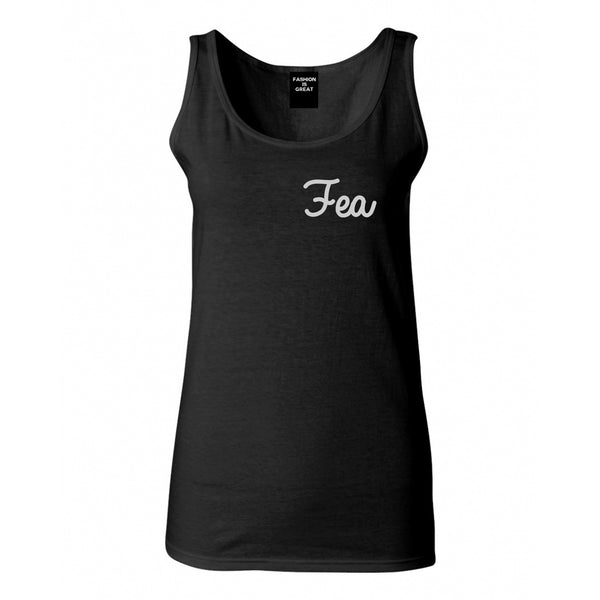 Fea Ugly Spanish Chest Black Womens Tank Top