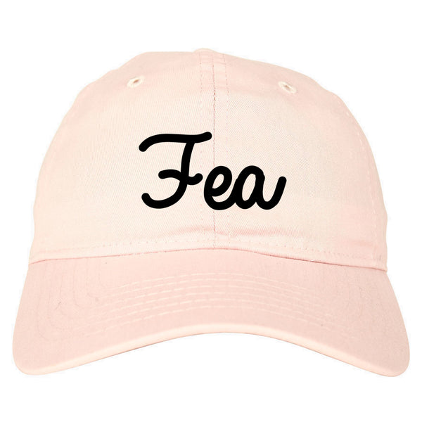 Fea Ugly Spanish Chest pink dad hat