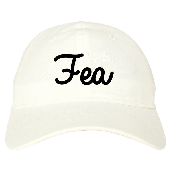 Fea Ugly Spanish Chest white dad hat