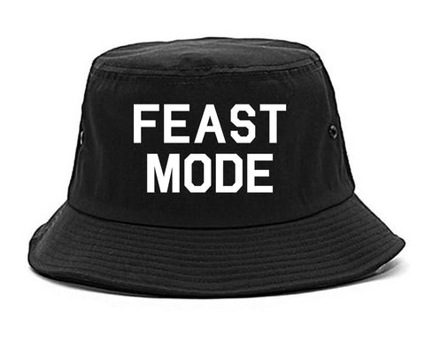Feast Mode Thanksgiving Food Black Bucket Hat