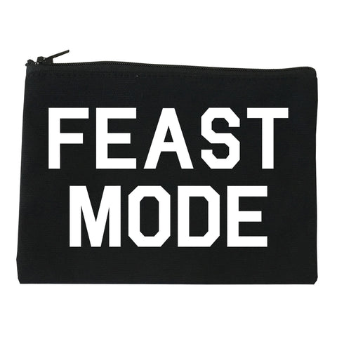 Feast Mode Thanksgiving Food Black Makeup Bag