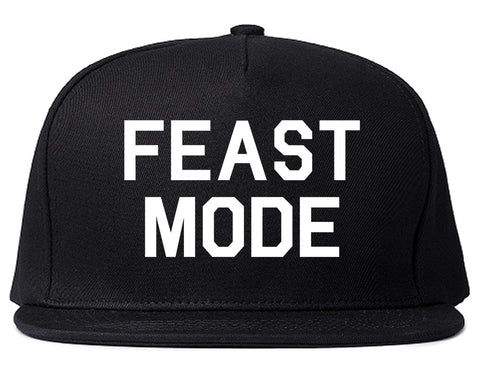 Feast Mode Thanksgiving Food Black Snapback Hat