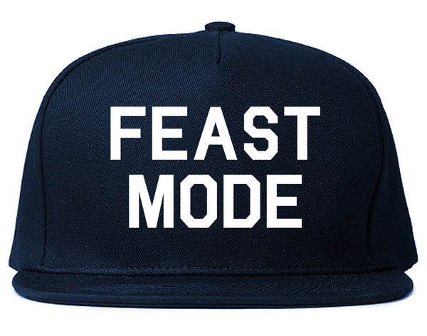 Feast Mode Thanksgiving Food Blue Snapback Hat