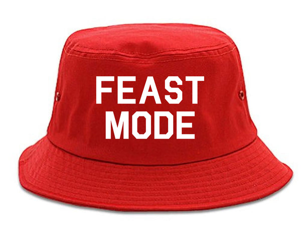 Feast Mode Thanksgiving Food Red Bucket Hat