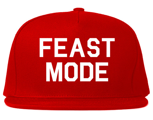 Feast Mode Thanksgiving Food Red Snapback Hat