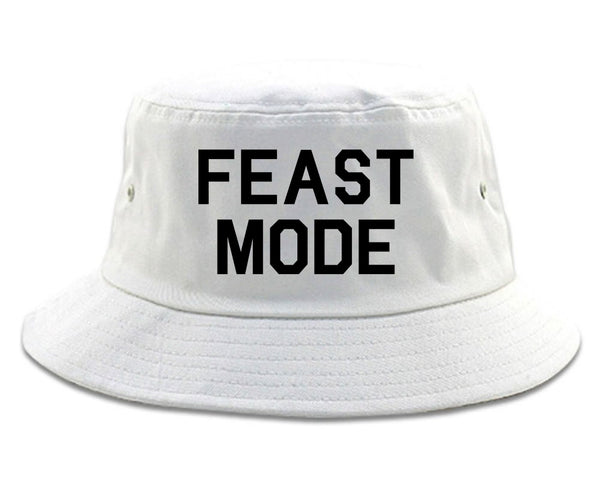 Feast Mode Thanksgiving Food White Bucket Hat