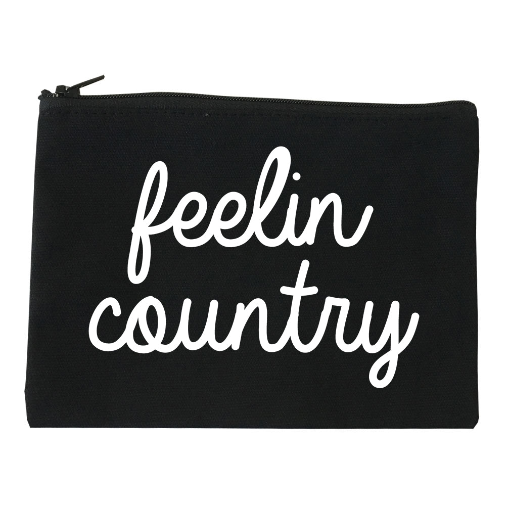 Feeling Country Texas Black Makeup Bag