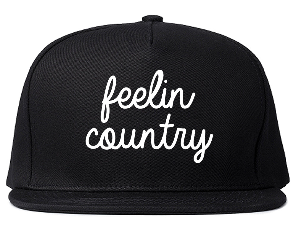 Feeling Country Texas Black Snapback Hat