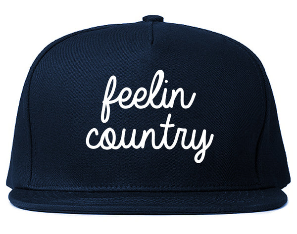 Feeling Country Texas Blue Snapback Hat