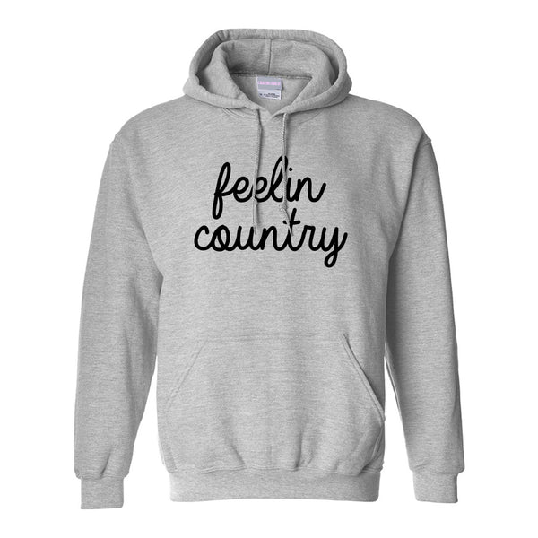 Feeling Country Texas Grey Pullover Hoodie