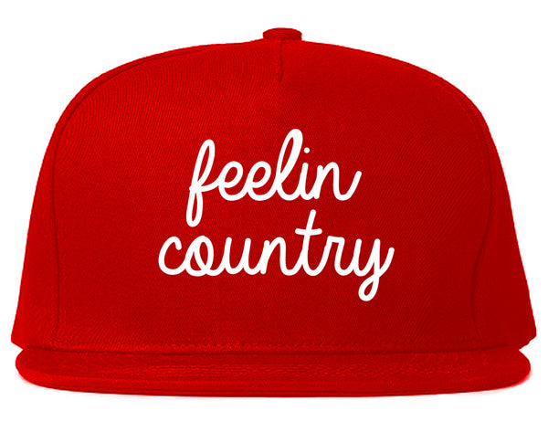 Feeling Country Texas Red Snapback Hat