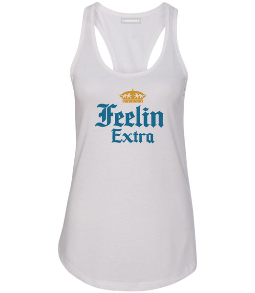 Feeling Extra Womens Racerback Tank Top White