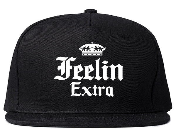 Feeling Extra Snapback Hat Black