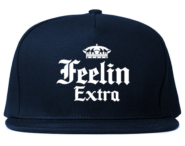Feeling Extra Snapback Hat Blue