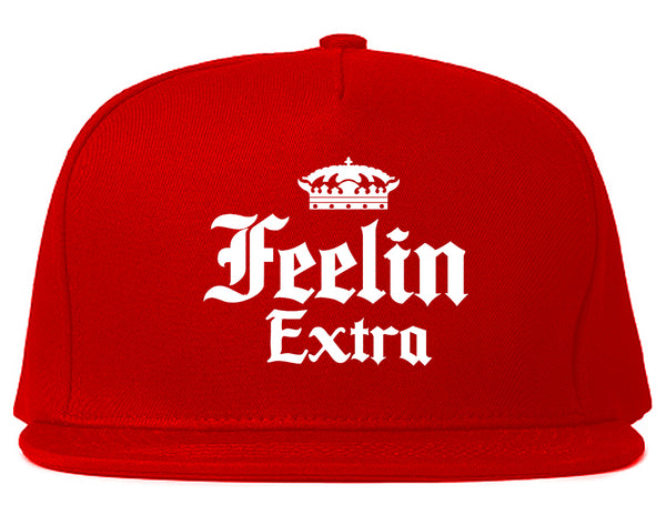 Feeling Extra Snapback Hat Red