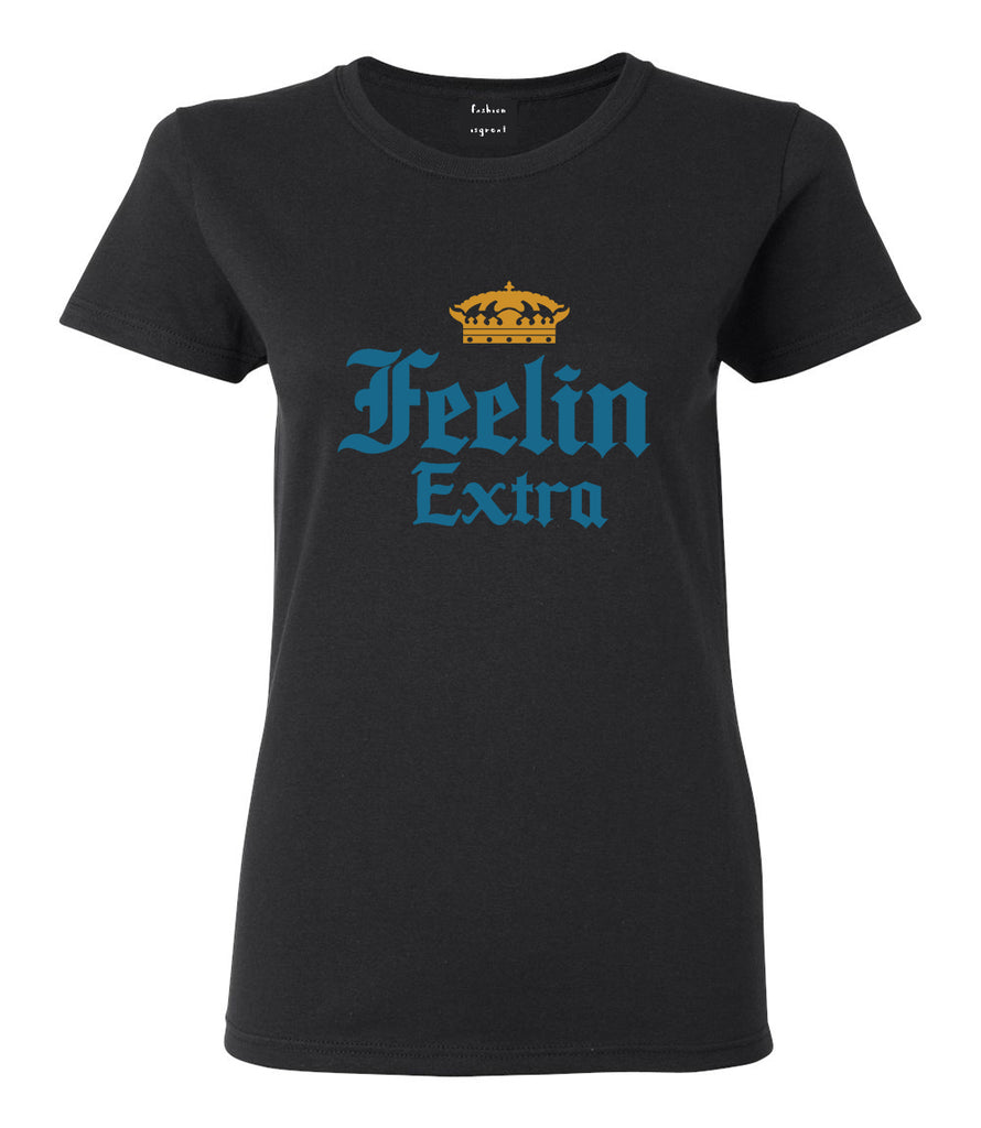 Feeling Extra Womens Graphic T-Shirt Black
