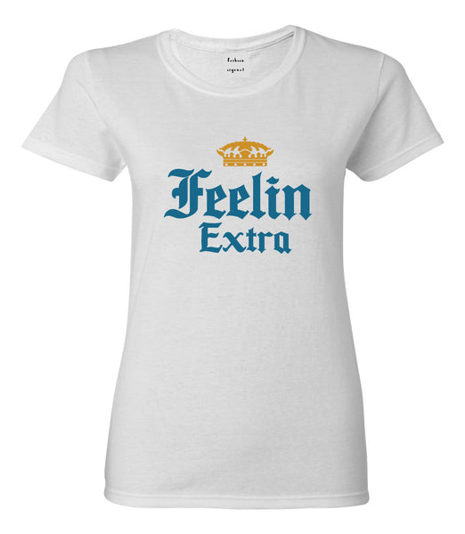 Feeling Extra Womens Graphic T-Shirt White