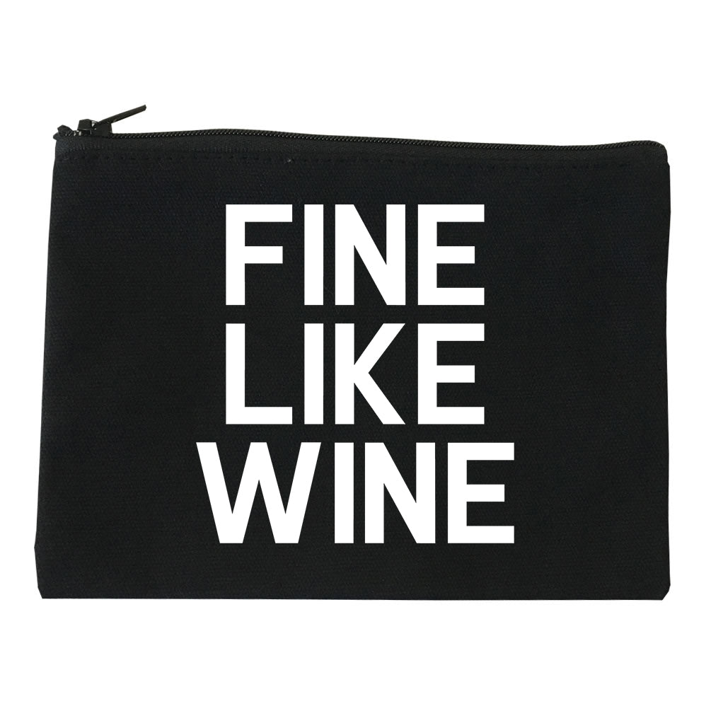 Fine Like Wine Black Makeup Bag