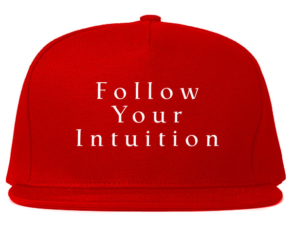 Follow Your Intuition Snapback Hat Red