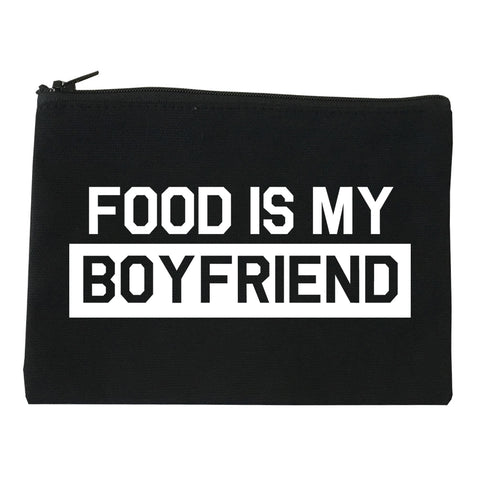 Food Is My Boyfriend Black Makeup Bag