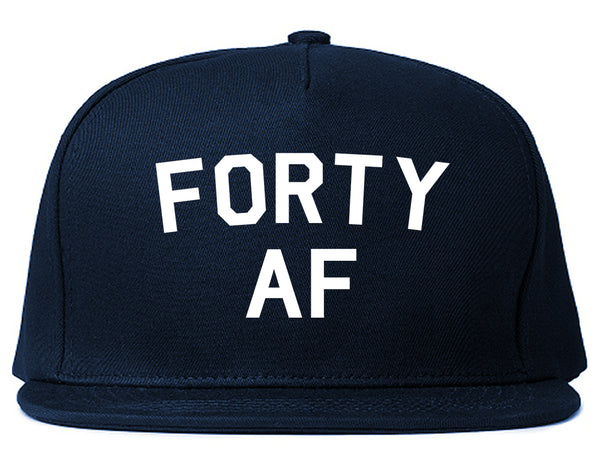 Forty AF Birthday Blue Snapback Hat