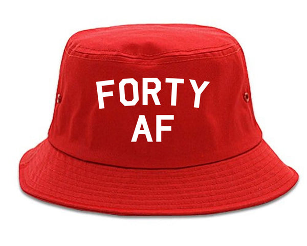 Forty AF Birthday Red Bucket Hat