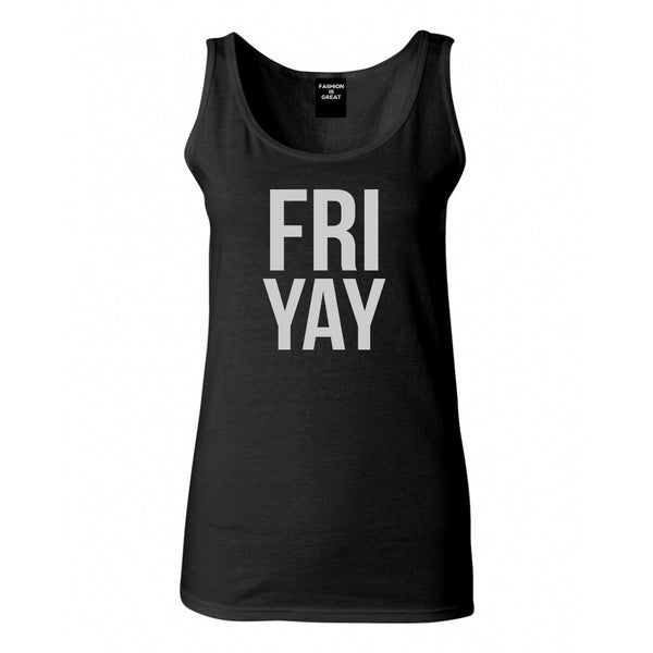 Fri Yay Friday Weekend Teacher Black Tank Top