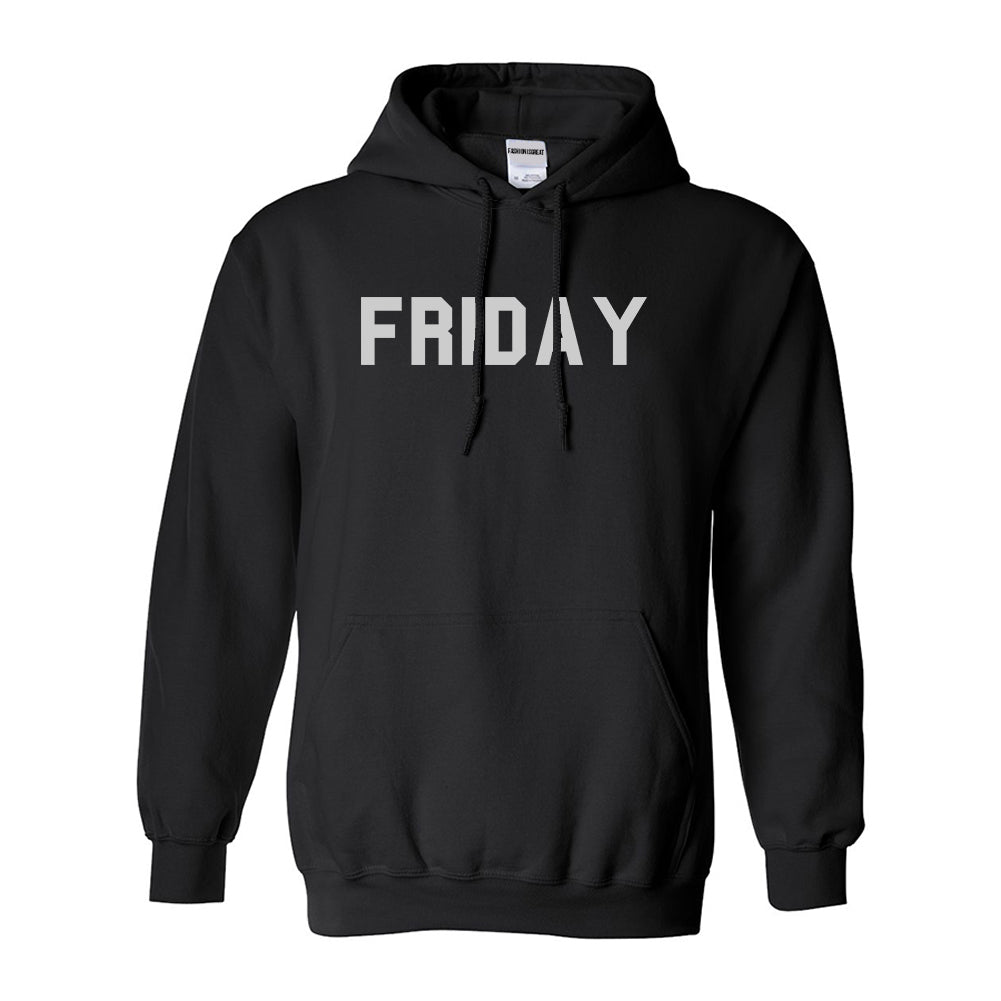 Friday Days Of The Week Black Womens Pullover Hoodie