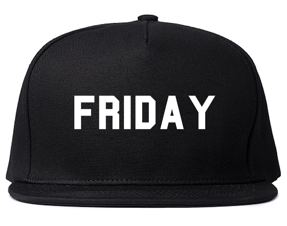 Friday Days Of The Week Black Snapback Hat