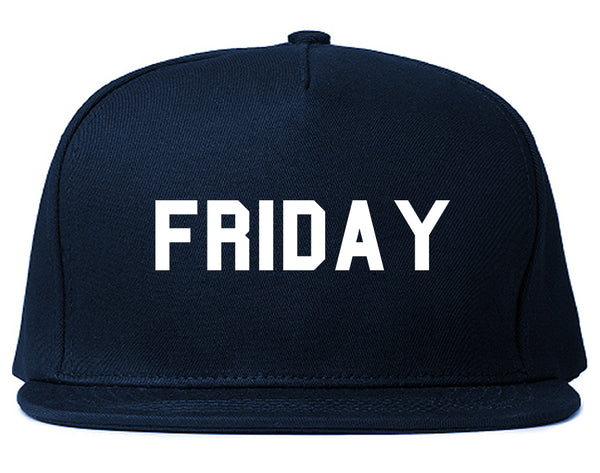Friday Days Of The Week Blue Snapback Hat