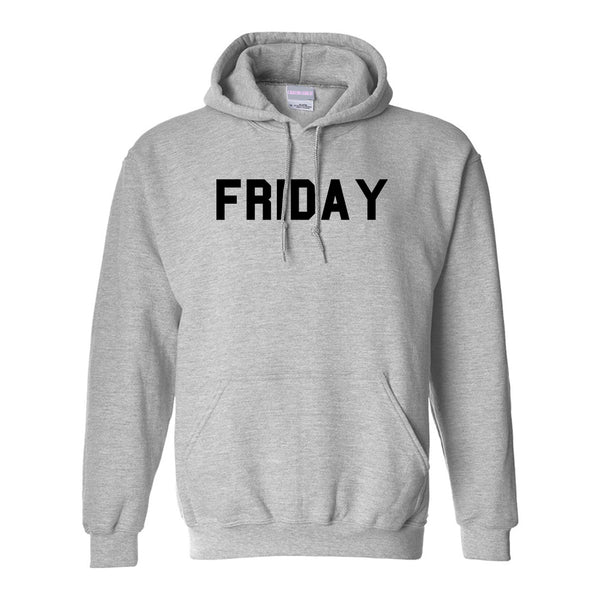 Friday Days Of The Week Grey Womens Pullover Hoodie