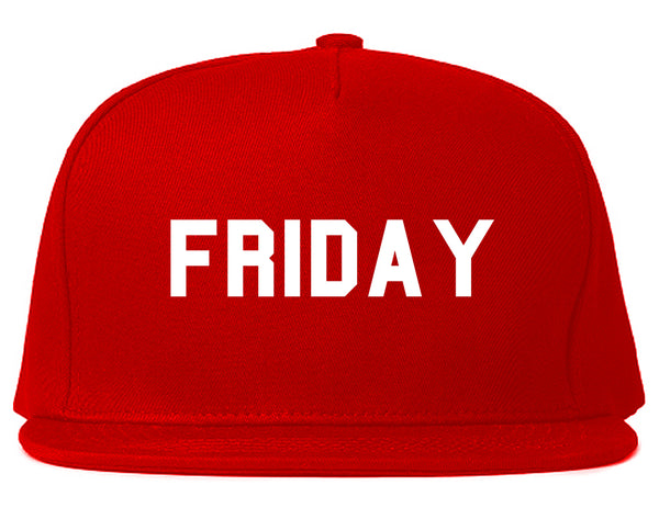 Friday Days Of The Week Red Snapback Hat