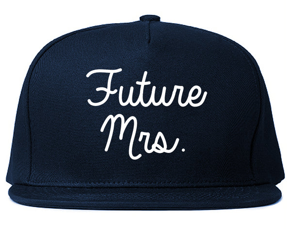 Future Mrs Bridal Shower chest Blue Snapback Hat