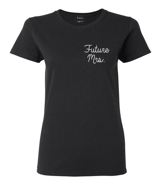Future Mrs Bridal Shower chest Black Womens T-Shirt