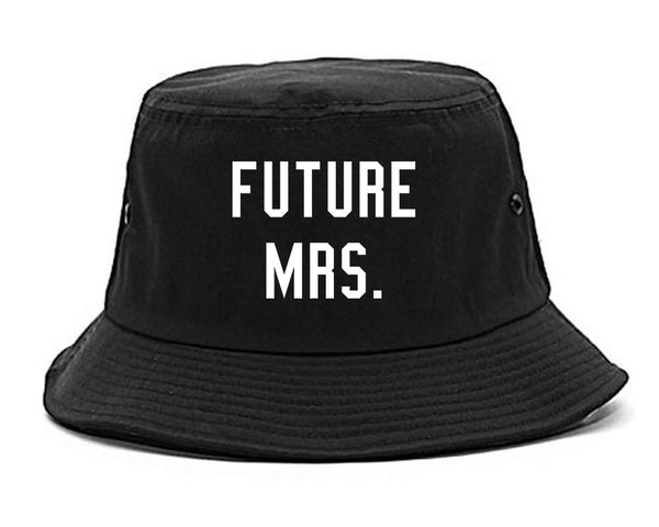 Future Mrs Bride Bridal Shower black Bucket Hat