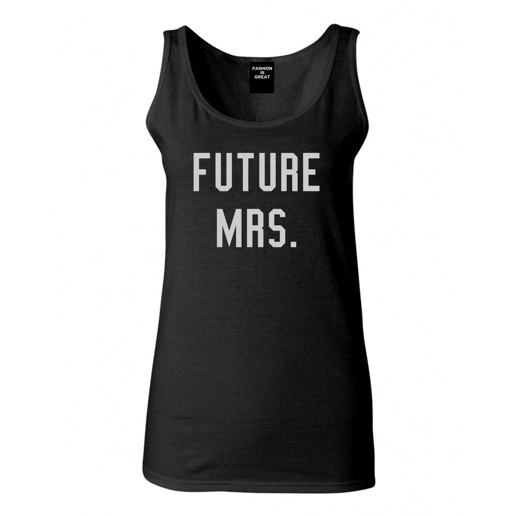 Future Mrs Bride Bridal Shower Black Womens Tank Top