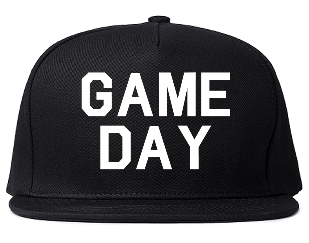 Game Day Sports Black Snapback Hat