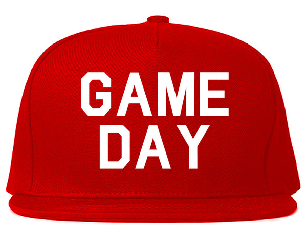 Game Day Sports Red Snapback Hat