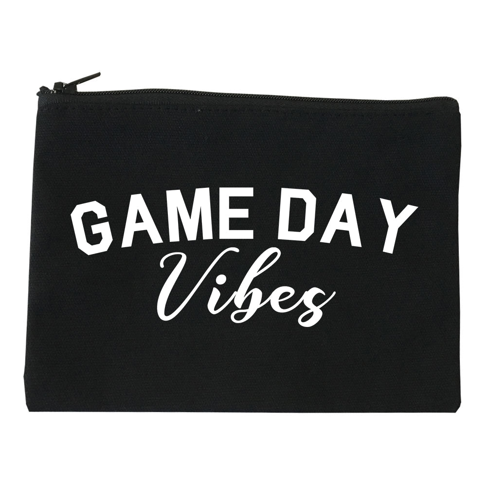 Game Day Vibes Black Makeup Bag