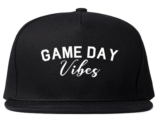 Game Day Vibes Black Snapback Hat